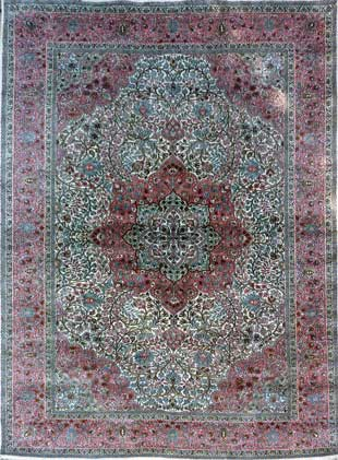 Luxury Silk Srinagar Carpet from Kashmir for only £3000.-