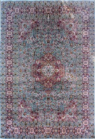 Luxury Silk Srinagar Carpet from Kashmir for only £3500.-