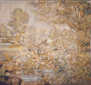 Antique French Aubusson Tapestry 8'11'' x 5' 11'' (273 x 181 cm)