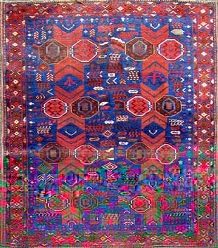 Antique Afshar rug for only £900.-