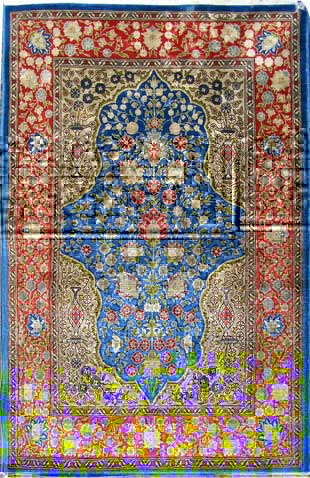 Extremely fine Silk Quom Rug for only £650.-