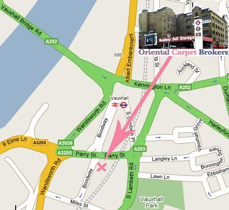 We are located  two  minutes walk from Vauxhall Underground Station and can provide free Parking